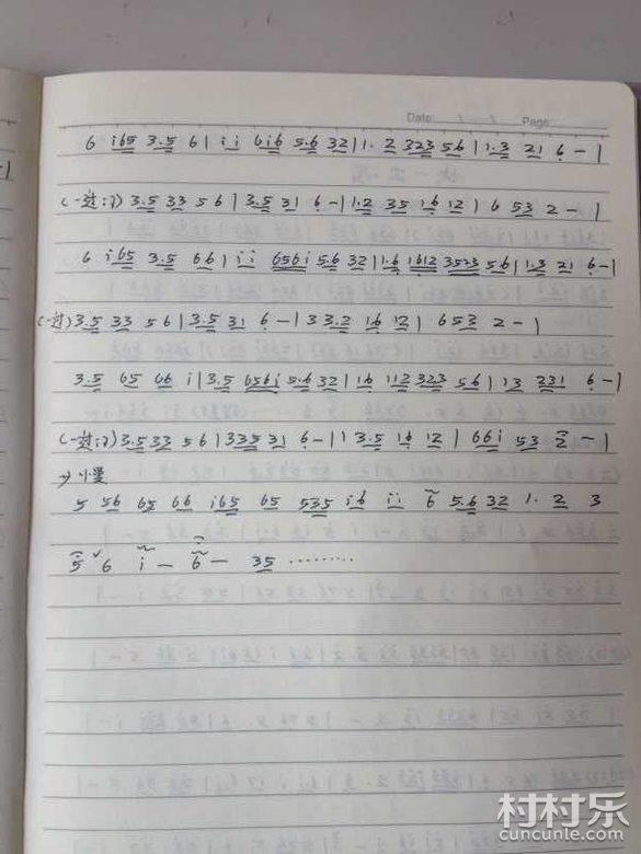 湖南花鼓戏曲谱 60 反十字调 琴谱