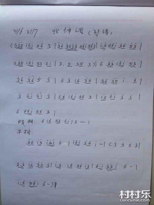 邵阳花鼓戏音乐曲谱 26 南神调 南行调 北神调